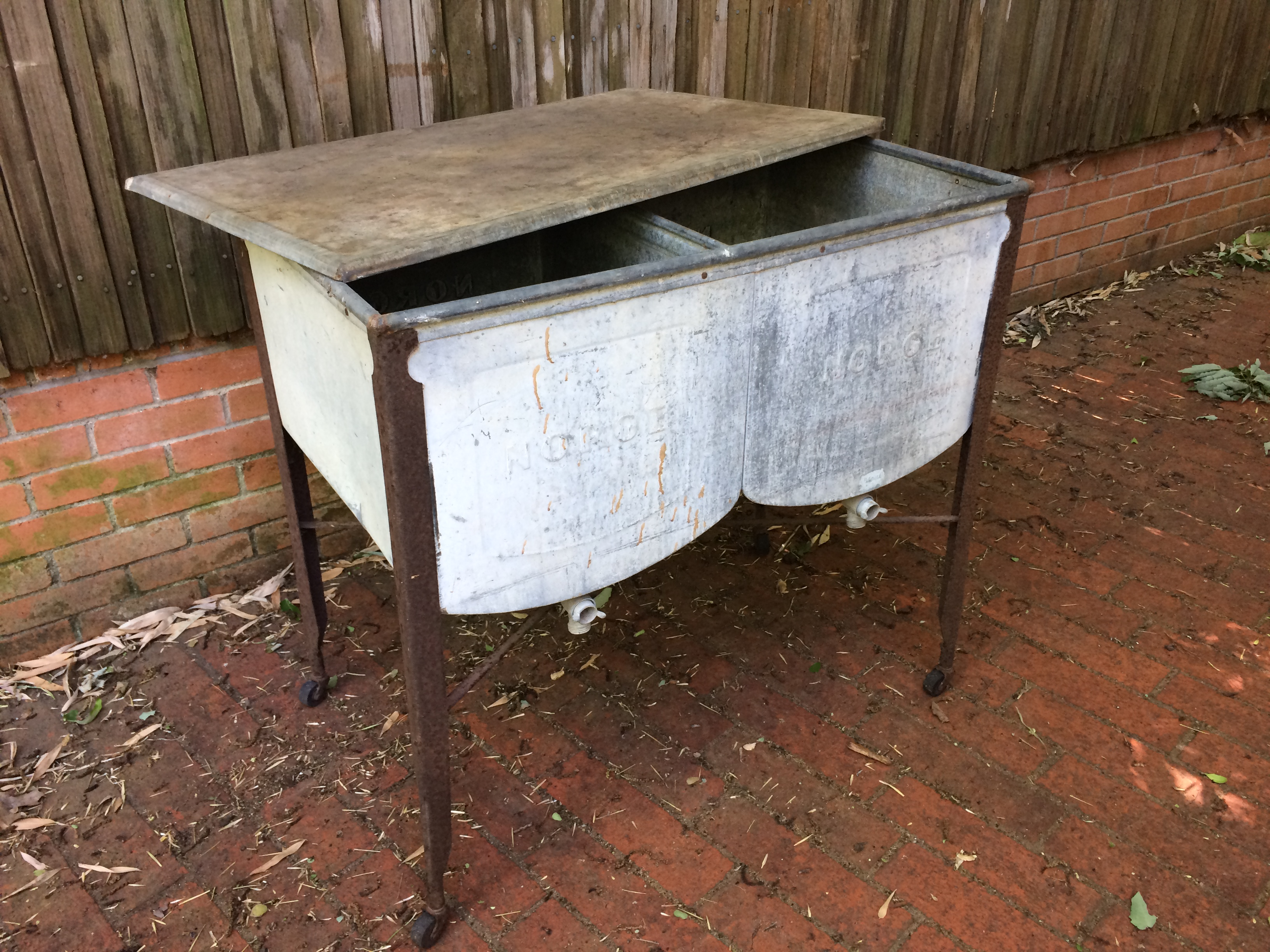 galvanized or wash stand wisemen drain lawdry with square tub single trading and sink double