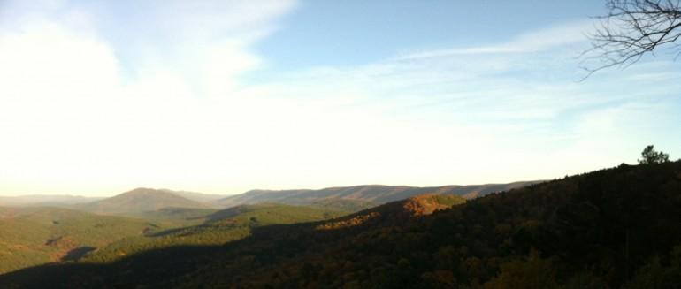 Kiamichi Mountains of southeast Okahoma: Blue Ridge of the west