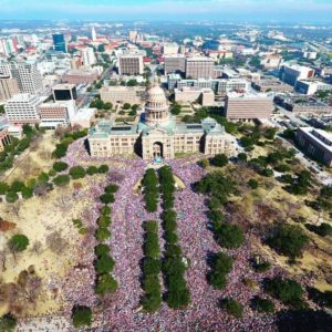 Women's March on Austin Texas